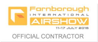 Official Contractor for Farnborough Airshow 2016